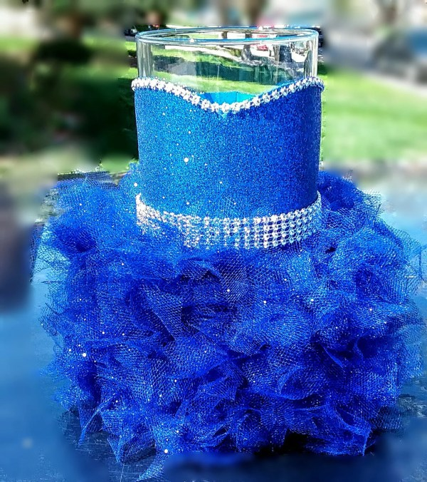 Royal Blue Wedding Centerpiece Vase Royalty blue wedding