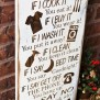 Gifts For Mom Mom S Rules Rustic Wood Sign By