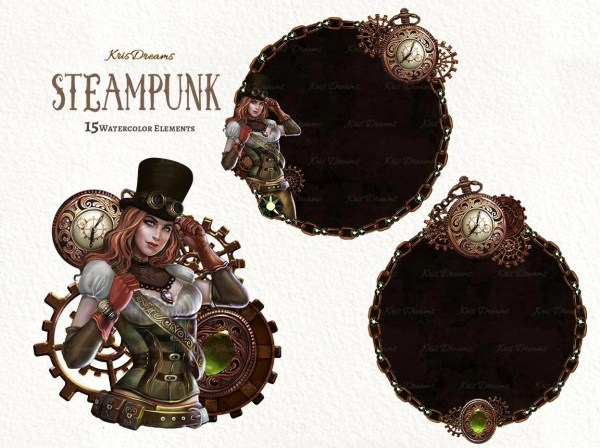 Steampunk Clip Art Victorian Clipart Cosplay
