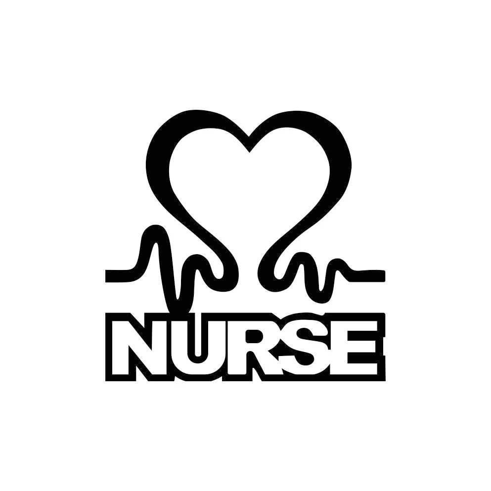 Nurse Heart Sign Word Graphics SVG Dxf EPS Png Cdr Ai Pdf