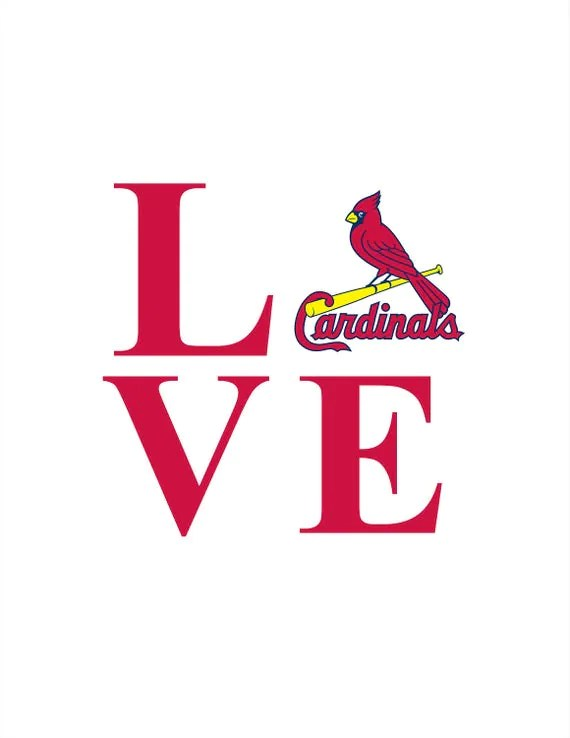 Download Love St Louis Cardinals Baseball INSTANT DOWNLOAD 1 dxf