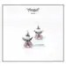 Bead pattern beaded Angel earrings ornament with by