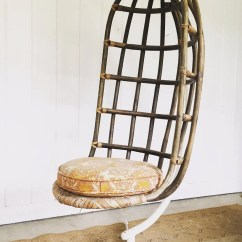 Hanging Chair Metal Slipcover For Overstuffed And Ottoman Mid Century Woven Nest With Original Base