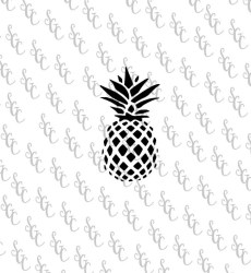pineapple stencil reusable silhouette choose sizes many