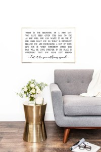 YOU PRINT PRINTABLE Wall Art Today Is The Beginning Of A New