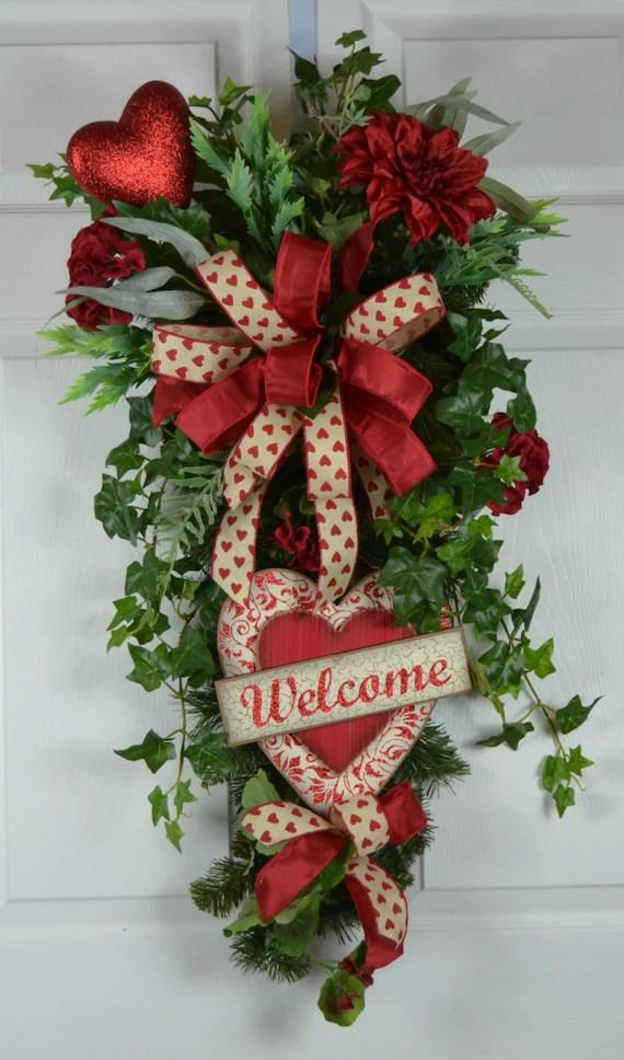 Valentines Day Wreath Valentines Wreath For Front Door