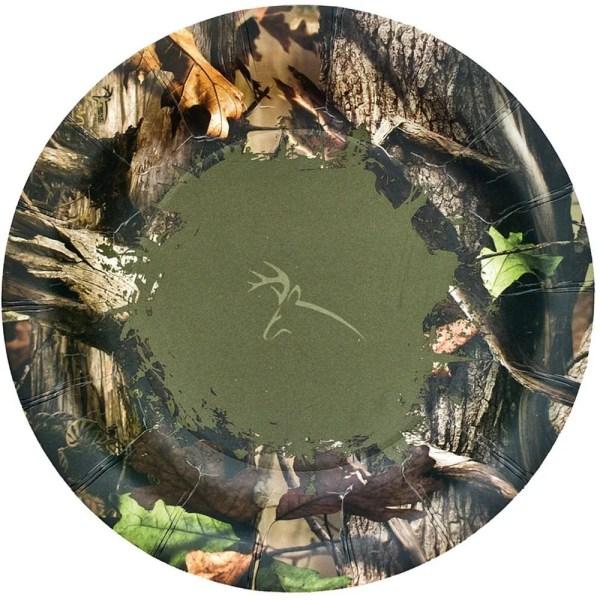 "Camo Dessert Plate Camouflage 7"" Deer"