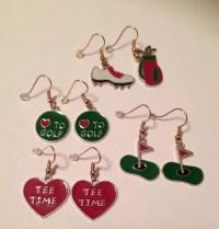Golf Earrings Golf Lovers Jewelry Golf Jewelry Women's