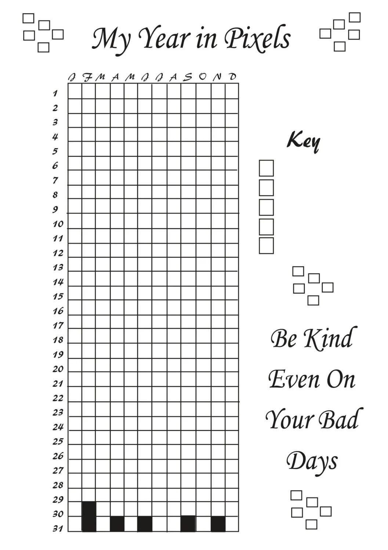 Printable Life In Pixels Bujo Style Mood Tracker