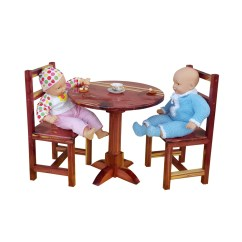 American Girl High Chair Foam For Upholstery Table And 2 Chairs Set Dolls Furniture Ag Doll