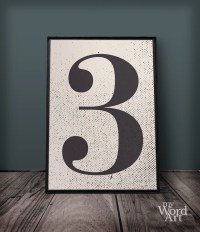 Number 3 Print Number Three Wall Art Number Wall Decor