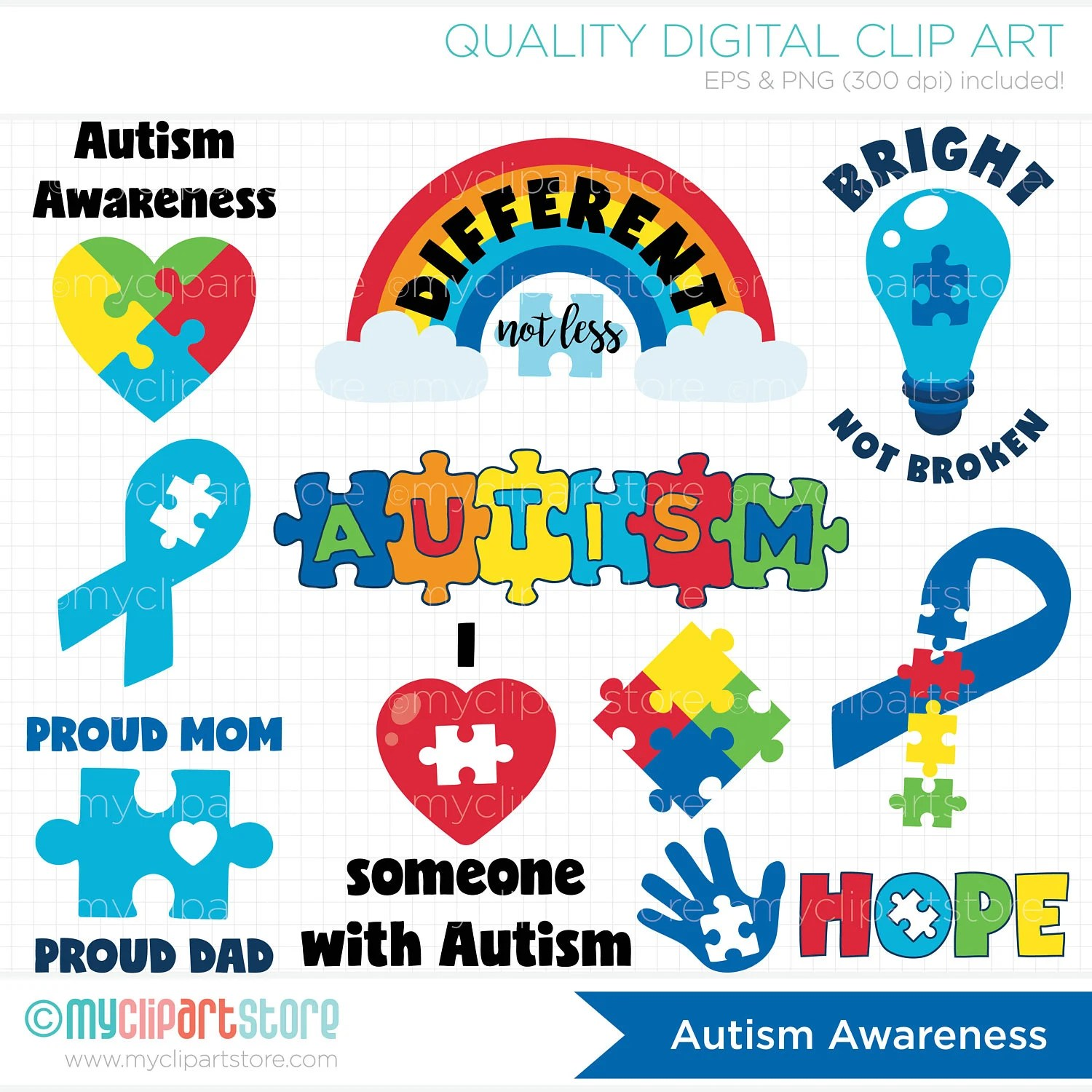 Autism Svg Clipart Autism Stickers Cutting Files Autism