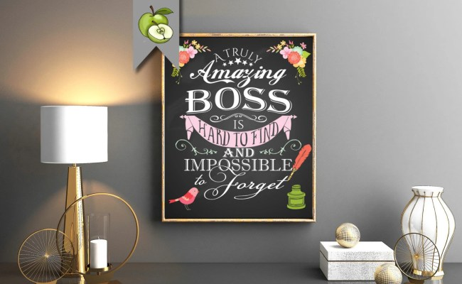 Retirement Gift Female Boss A Truly Amazing Boss By