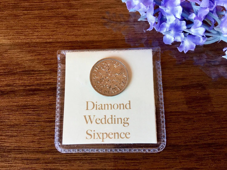 Diamond Wedding Sixpence 60th Wedding Anniversary Gift For