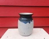 Tall White Stoneware Vase...