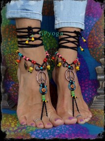 Peace Sign Hippie Barefoot Sandals