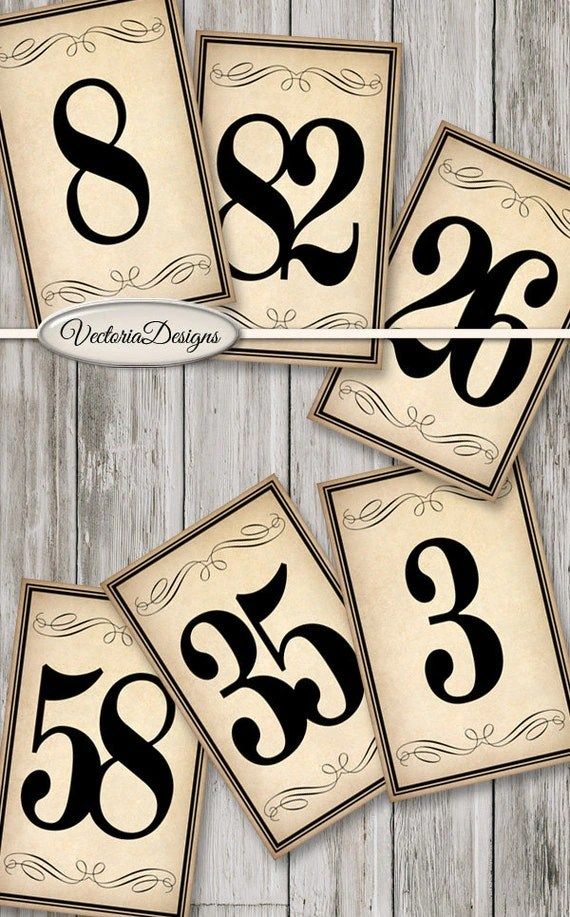 Wedding Table Number Stands
