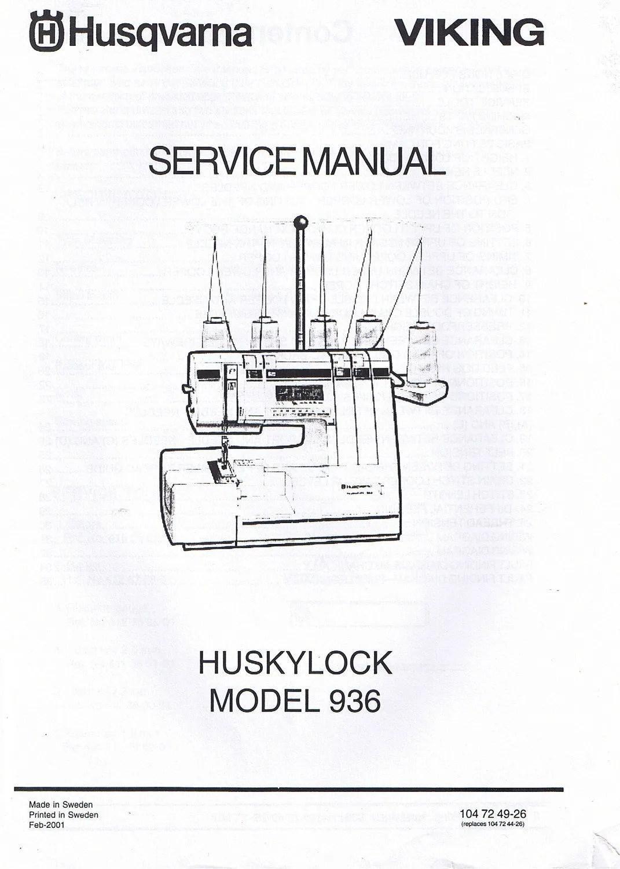 Husqvarna Viking Huskylock 936 Overlock Serger Machine