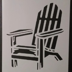 Adirondack Chair Plans Dxf Costco Wooden Folding Chairs Beach Custom Stencil Fast Free Shipping