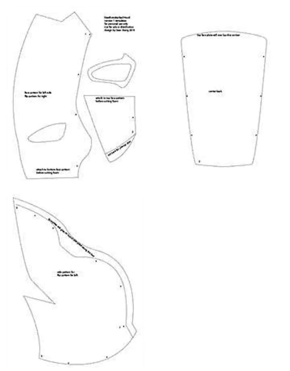 Deathstroke RedH0od Printable templates from XiengProd on
