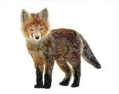 Fox - Print. Painting. Wa...