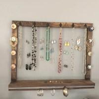 Jewelry organizer wall mount