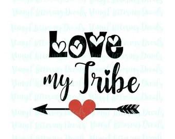 Download Love my tribe cricut   Etsy