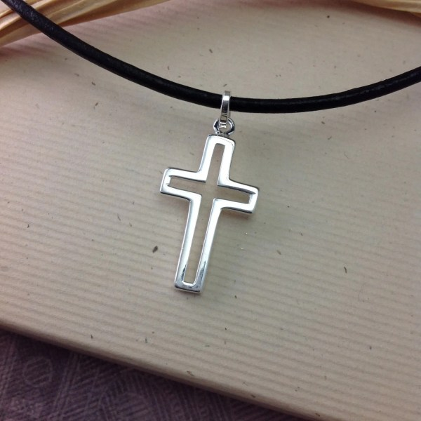 Boys Confirmation Sterling Silver Cross Necklace