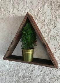 Triangle shelf, small reclaimed triangle shelf