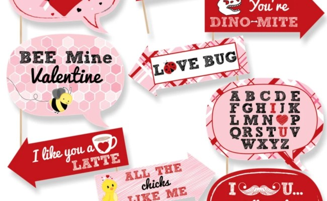 Funny Valentine S Day Photo Booth Props Valentine S