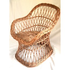 Childs Rattan Chair Hon High Back Executive Wicker Kids Willow Child
