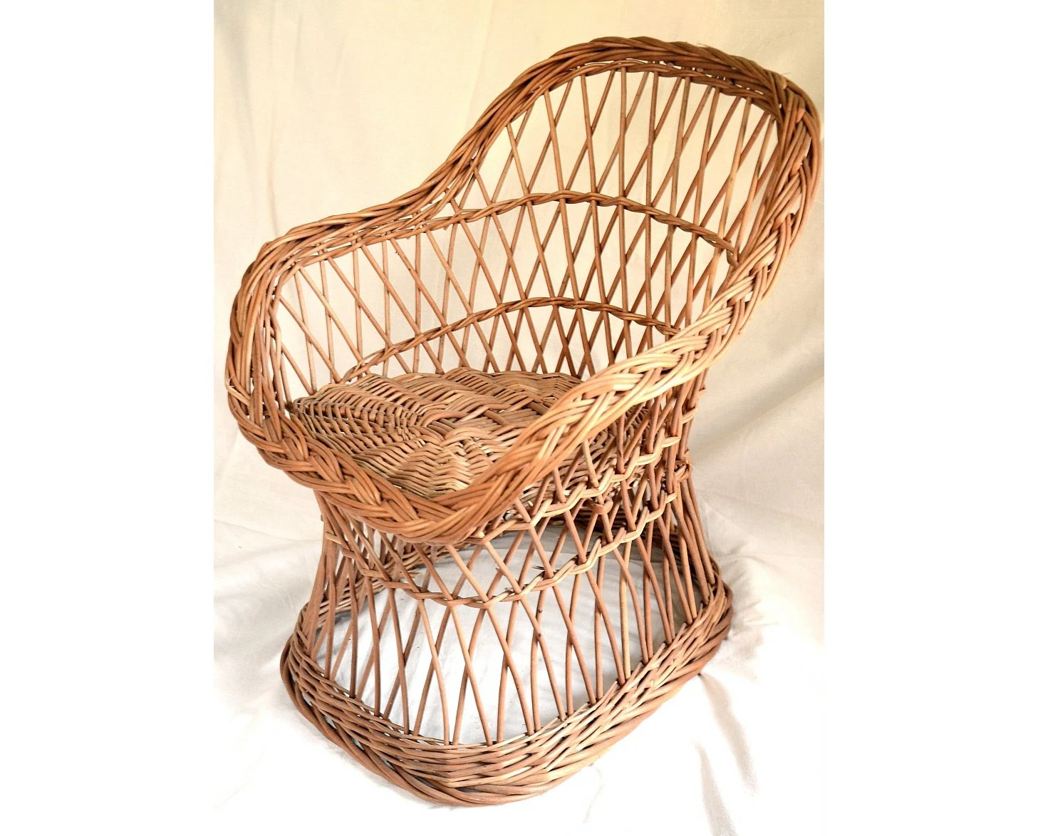 Woven Chair Wicker Kids Chair Willow Child Chair Kids Willow Chair
