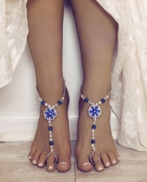Something Blue Barefoot Sandals