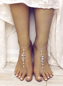 Orchid Barefoot Sandals Pearl Beach Wedding