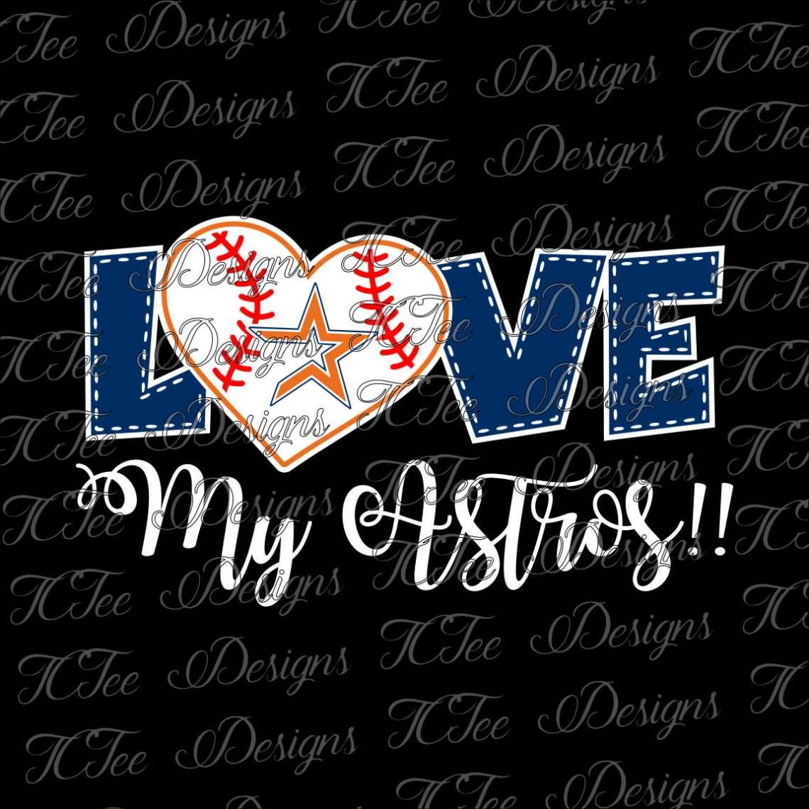 Download Love My Astros Houston Astros Baseball SVG Design Download