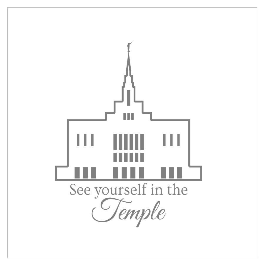 VINYL Ogden temple see yourself in the temple vinyl sticker