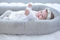 Cosleep Baby Bed white and gray cosleeping Baby Pillow