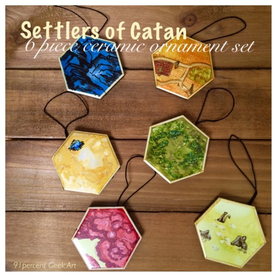 Catan ornaments - hand painted 2