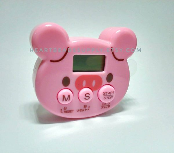Cute Pig Kitchen Timer Timing Oven Clay Craft Projects