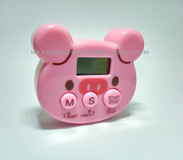 Cute Pig Kitchen Timer Timing Oven Clay Craft Projects Baking Cooking Id1360608