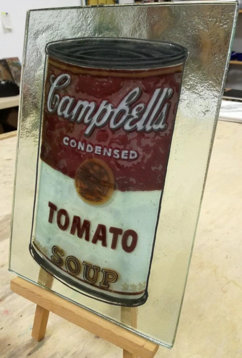 Glass painting Warhol...