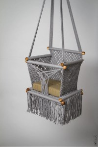 Baby Swing Chair 14 in Macrame. PREORDER. 1 Year