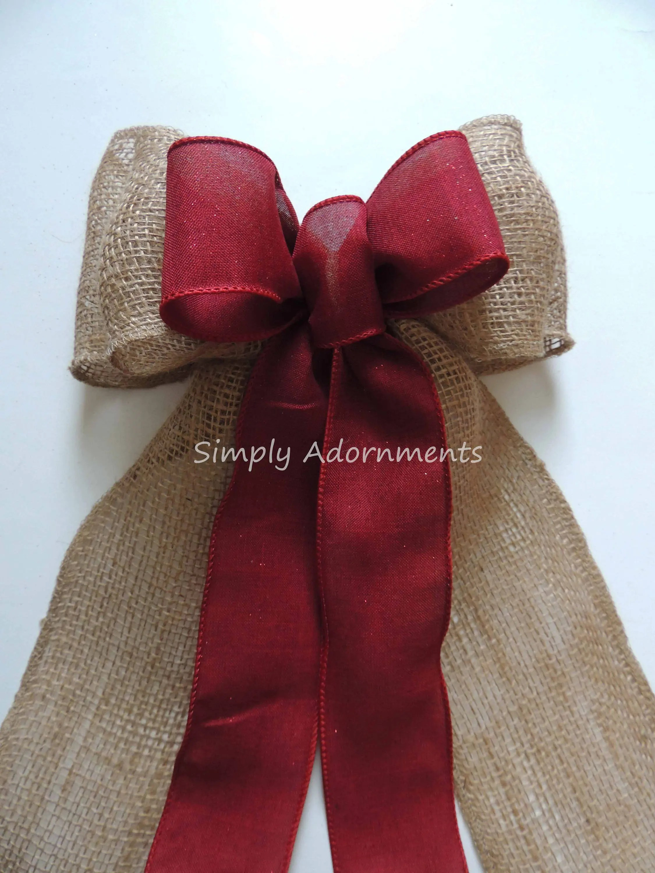 shabby chic chair outdoor covers ikea rustic burgundy burlap lace wedding bow red ...