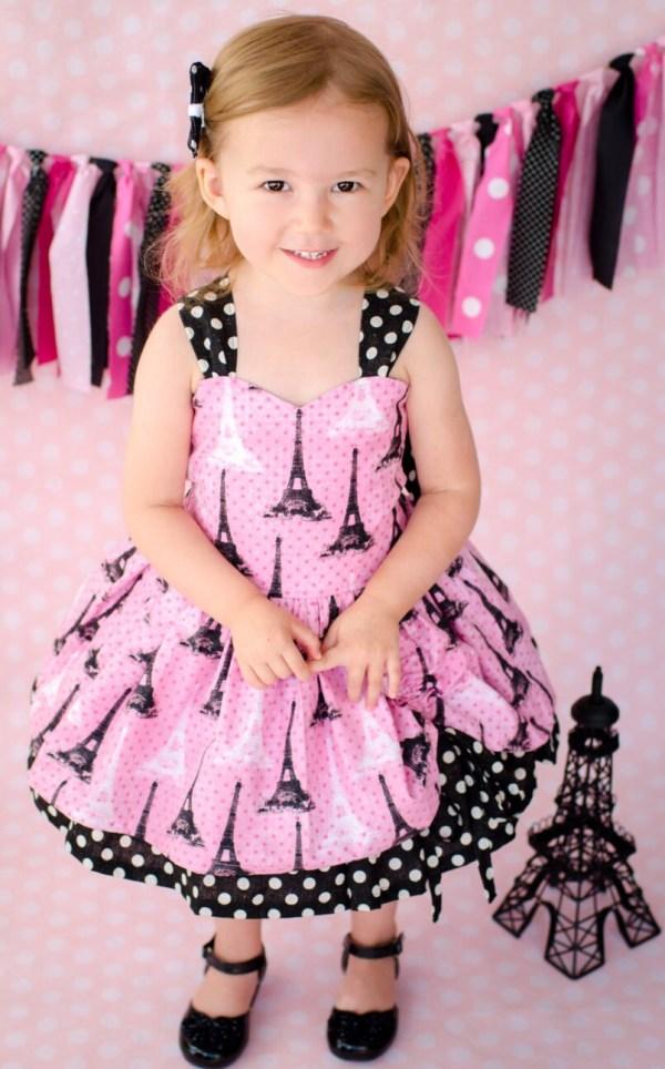 Eiffel Tower Dress Girls Paris