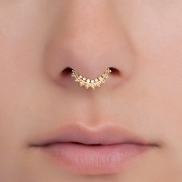 Fake Gold Septum Ring. Tiny fake septum jewelry. You can