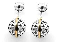 Big silver earrings | Etsy
