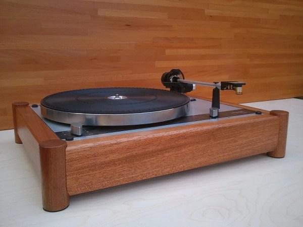 Mahogany Wood Plinth Thorens Td-145 160 Turntable Series