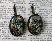 Steampunk Clockwork earri...