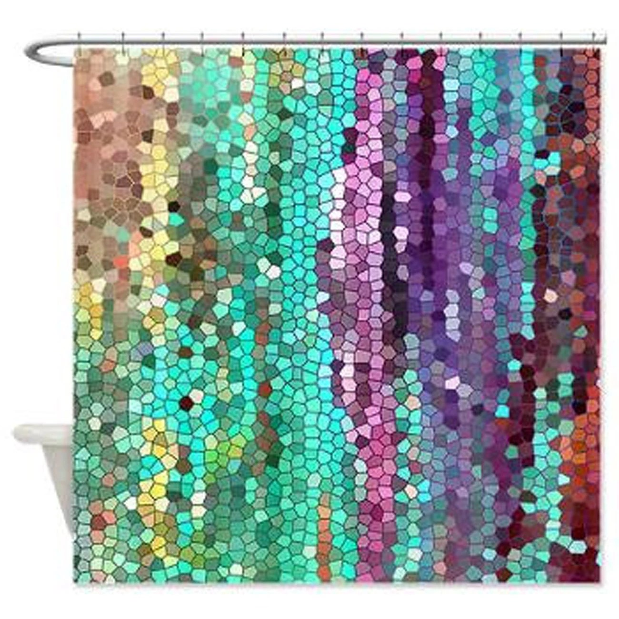 Beautiful Shower Curtain Morning Has Broken Mosaic Unique