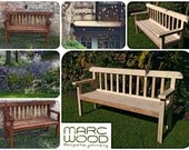 handmade garden bench sea...